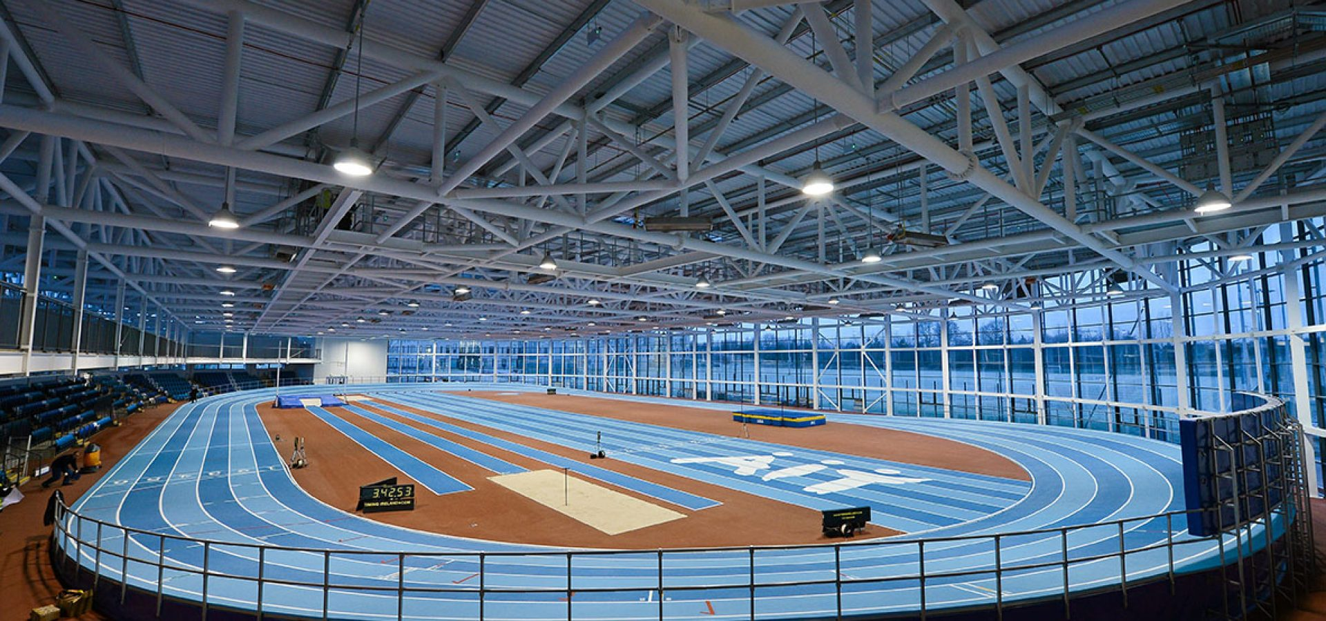 23 January 2013; A general view of the Athlone Institute of Technology International Arena. The €10 million facility has a footprint of 6,818m² and an overall building floor area of 9,715m². Some 850 tonnes of structural steel and 50,000 concrete blocks went into the construction of the facility which can house 2,000 spectators. Athlone Institute of Technology, Athlone, Co. Westmeath. Picture credit: Stephen McCarthy / SPORTSFILE *** NO REPRODUCTION FEE ***